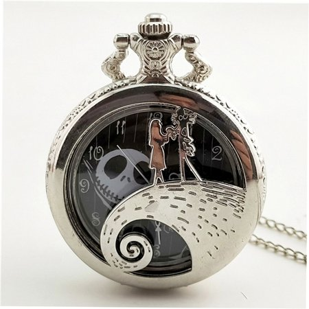 Christmas Night Carved Vintage Antique Round Dial Quartz Pocket Watch Gifts - image 2 of 5
