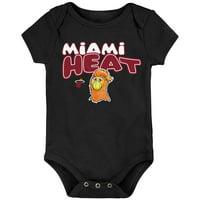 Miami Heat Infant Bubble Letter Bodysuit - Black
