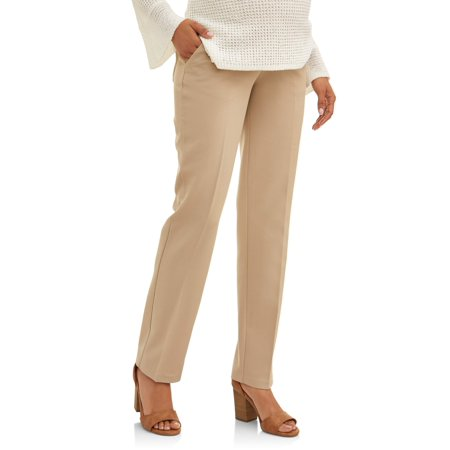 Maternity Oh! Mamma Straight Leg Career Pant with Demi Panel (Available in Plus Sizes)