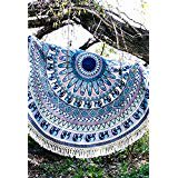 CC Round Tablecloth Beach Towel Round Yoga Mat (Cc Feather)