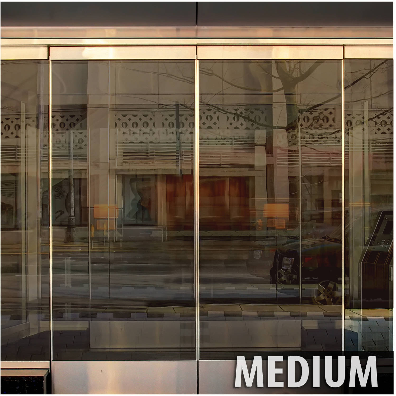 BDF BRZ35 Bronze Reflective Sun Control and Privacy Window Film (Medium) 36in X 7ft by BuyDecorativeFilm