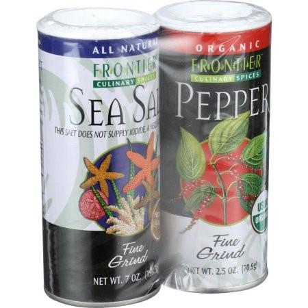 Frontier Salt & Pepper Combo Pack, 9.5 Oz by Frontier