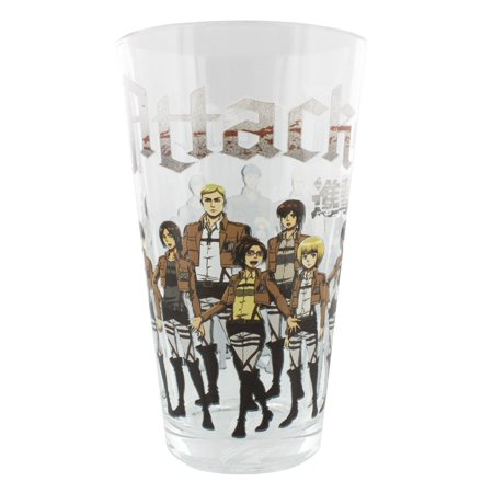 - Pint Glass - Attack On Titan - Training Regiment Group 16oz Cup gls-aot-group