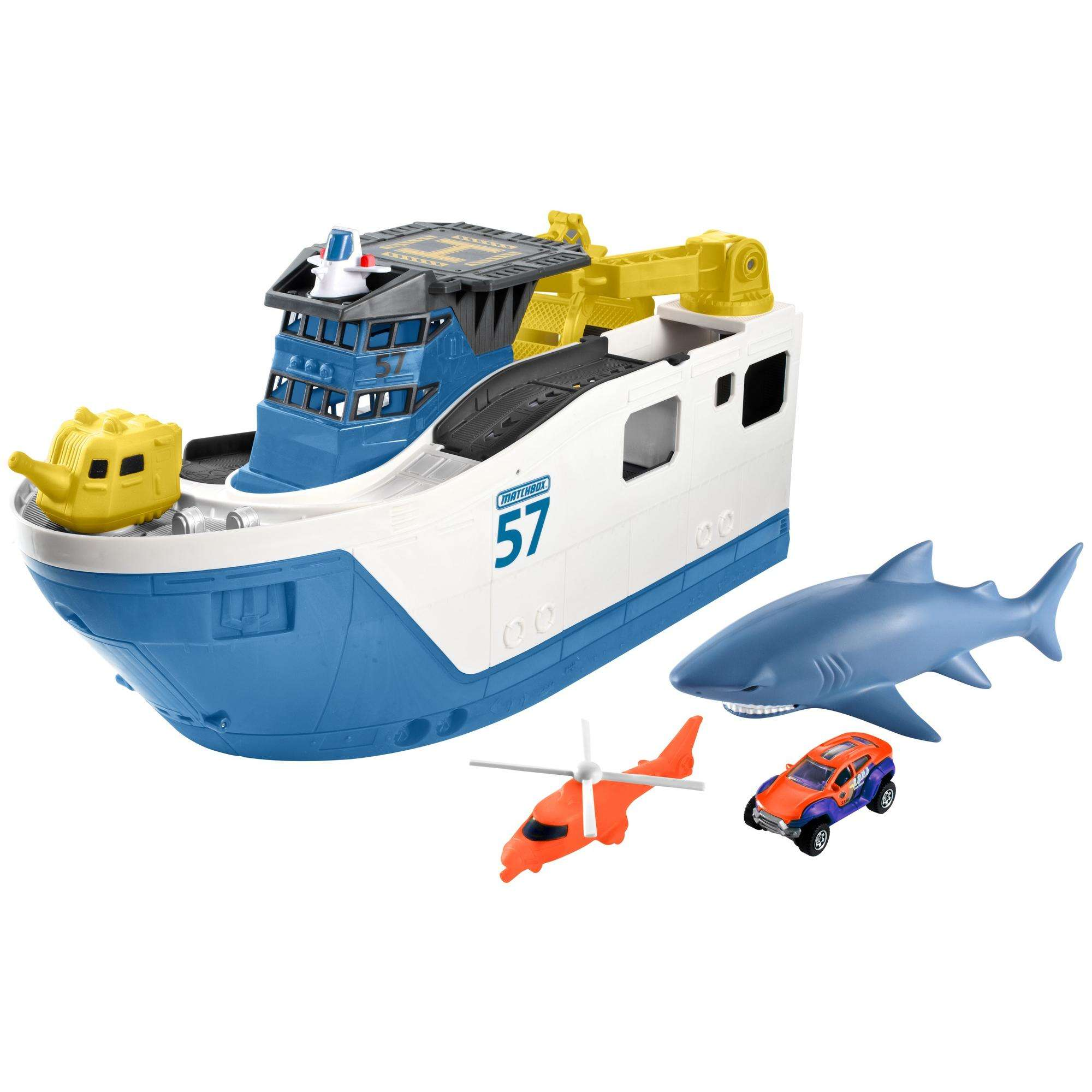 Matchbox Shark Week Shark Ship by Mattel