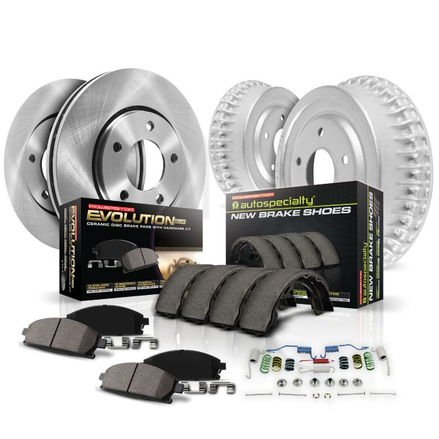 Power Stop KOE15120DK Autospecialty OE Replacement Rotor & Drum Brake Kit -Front & Rear