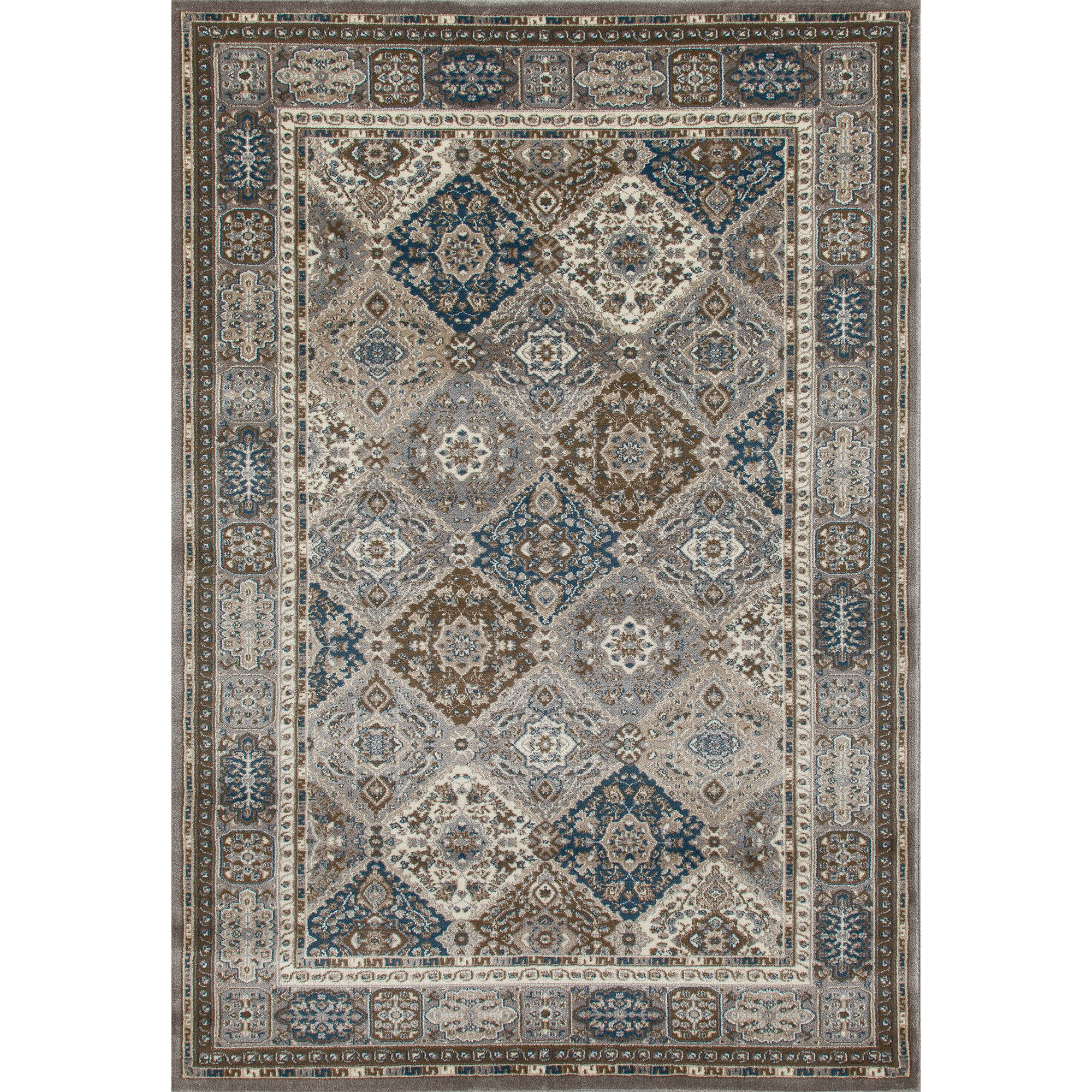 Traditional Geometric Woven Area Rug, 0155