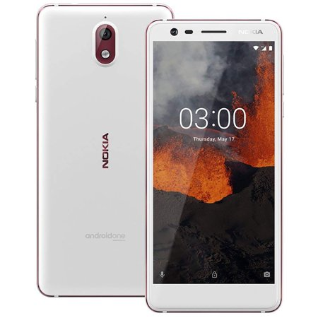 Nokia 3.1 TA-1049 16GB GSM Unlocked Dual-SIM Android Phone w/ 13MP Camera - White/Iron