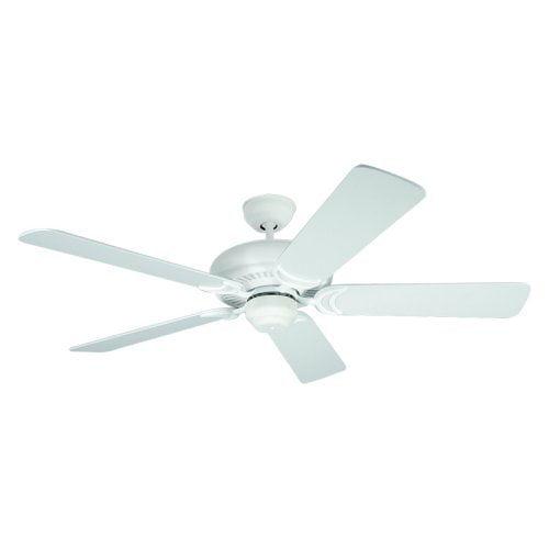 "Monte Carlo Fans Designer Supreme -52"" Ceiling Fan, Textured White Finish"