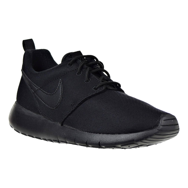 Nike Roshe One (GS) Black/Black Big Kids Running Shoes 599728-031