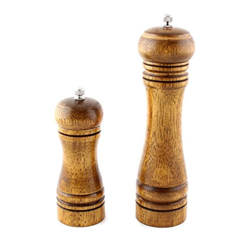5 inch Wood Pepper Spice Herb Grinder Cruet Mill Condiment Grinding Salt Gourmet by Unbranded