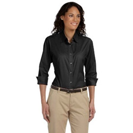 Devon & Jones Ladies' Perfect Fit™ 3/4-Sleeve Stretch Poplin Blouse