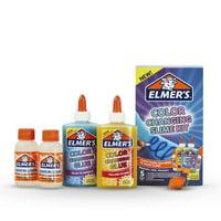 Elmer's Color Changing Slime Kit: Slime Supplies Include Elmer's Color Changing Glue, Magical Liquid Slime Activator, UV Light, 5 Piece Kit