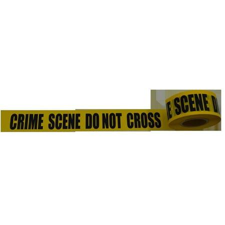 Petra Roc BT-CRIME Barricade Tape 2 Mil Printing Crime Scene Do Not Cross, Yellow & Black - 3 in. x 1000 ft.