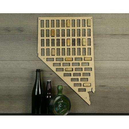 Wine Cork Traps State of Nevada Wooden Wine Cork Holder Organizer Wall Decoration ()
