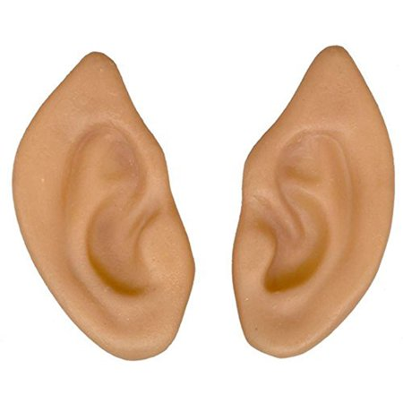 Latex Pointed Elf Fairy Alien Hobbit Ears Cosplay LARP Prosthetic](Halloween Alien Prosthetics)