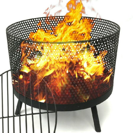 EasyGo Camping Patio Outdoor Fire Pit - Black Finish Wood ...