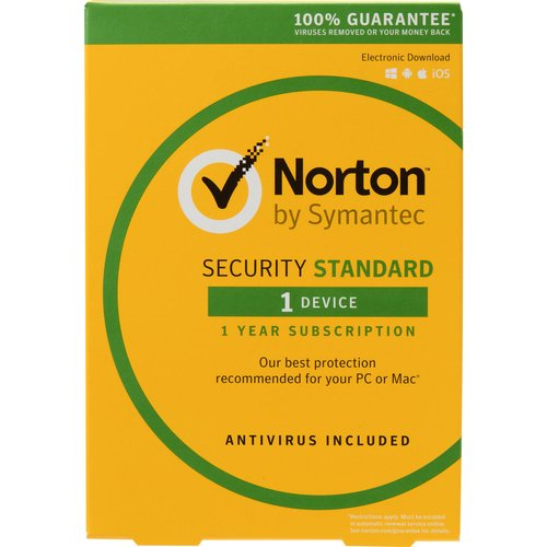 Symantec 21358874 Norton Security Standard, 1 Device (Email Delivery)