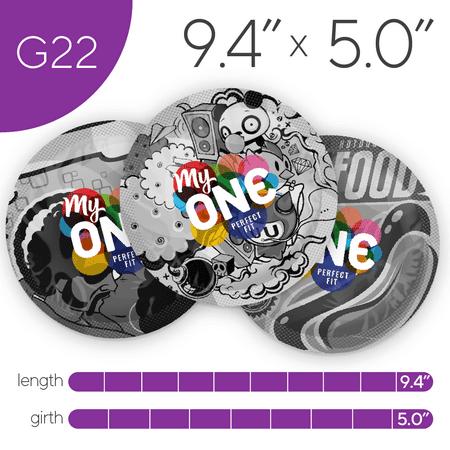 MyONE Condoms Size G22, 12-Count