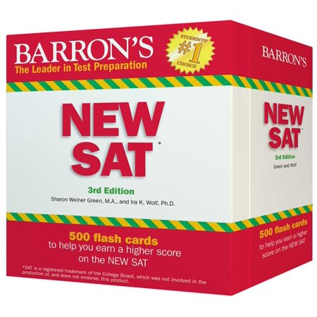 Barron's NEW SAT Flash Cards : 500 Flash Cards to Help You Achieve a Higher