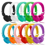 Kids Wired Ear Headphones Stylish Headband Earphones for i-Pad Tablet red
