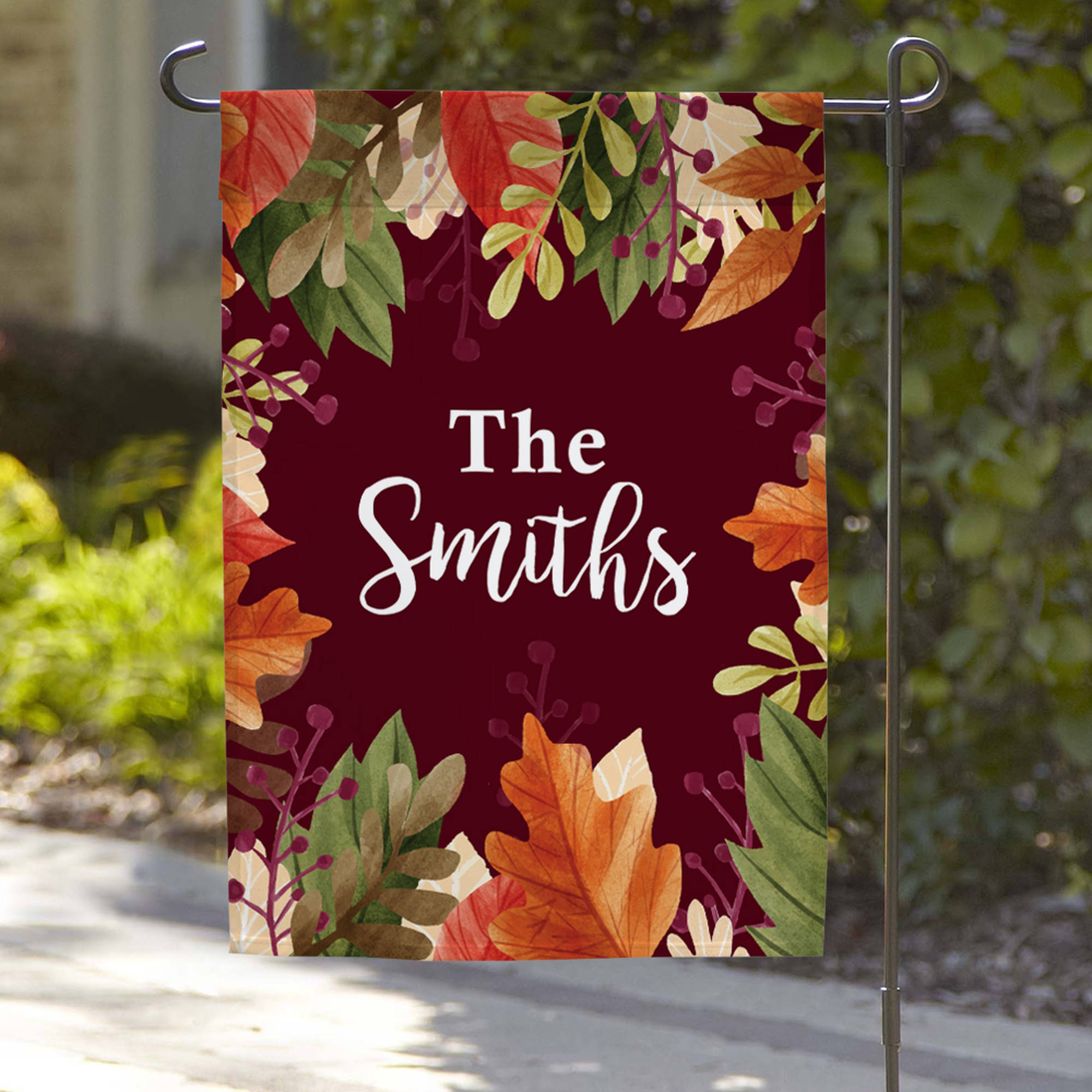 "Personalized Family Name Garden Flag, 18"" x 12"""