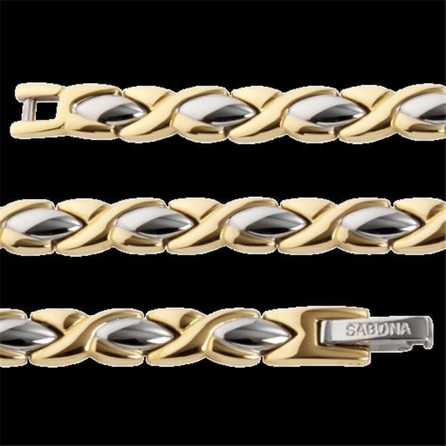 Sabona 33270 Lady Executive Dress Gold Duet Magnetic Bracelet - Medium - image 1 de 1