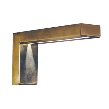 8 Construction Bracket - Federal Brace 33380 Lumiere Lighted Bracket Supports, Stainless Steel Cover Painted Steel Bracket - 8 X 4 Inch