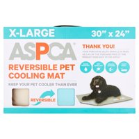 """ASPCA Reversible Pet Cooling Mat, Turquoise Solid, XL, 30""""x24"""""""