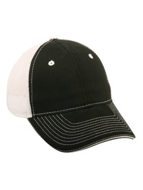 Outdoor Cap GWT-101M Washed Mesh Back, Black/White, Adult