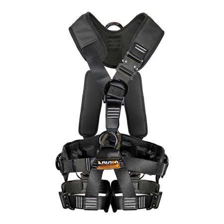 Fusion Climb Tac GT Tactical Full Body EVA Padded Heavy Duty Adjustable Zipline Harness 23kN L-XL Black