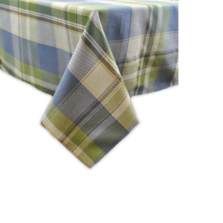 Green and Blue Plaid Square Tablecloth 52