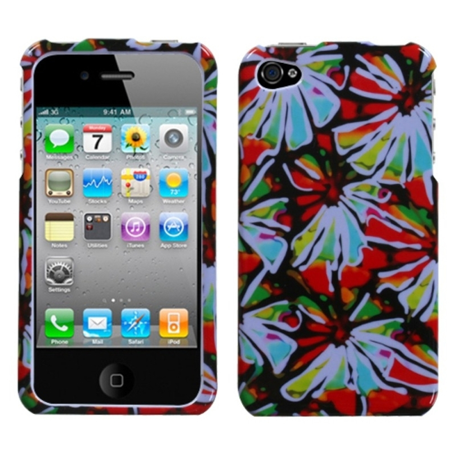 Insten Flower Power Case  For iPhone 4 4S