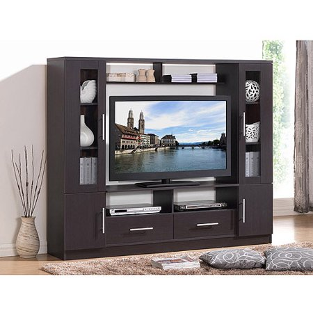 Techni Mobili Atlantis Espresso Home Entertainment Center for TVs up to 50;