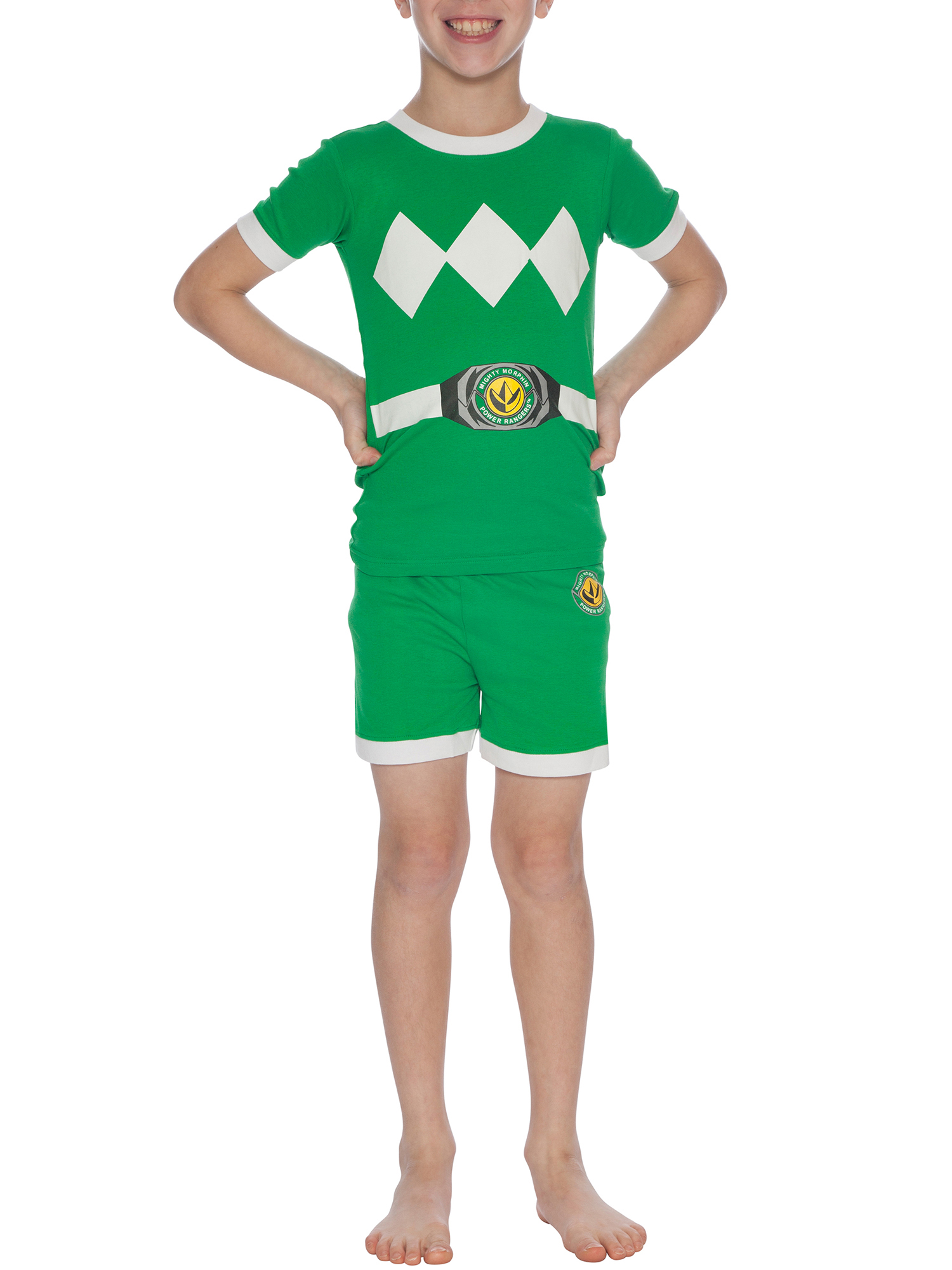 Boys' Power Rangers 2 Piece Costume Pajama Sleep Set (Little Boy & Big Boy)