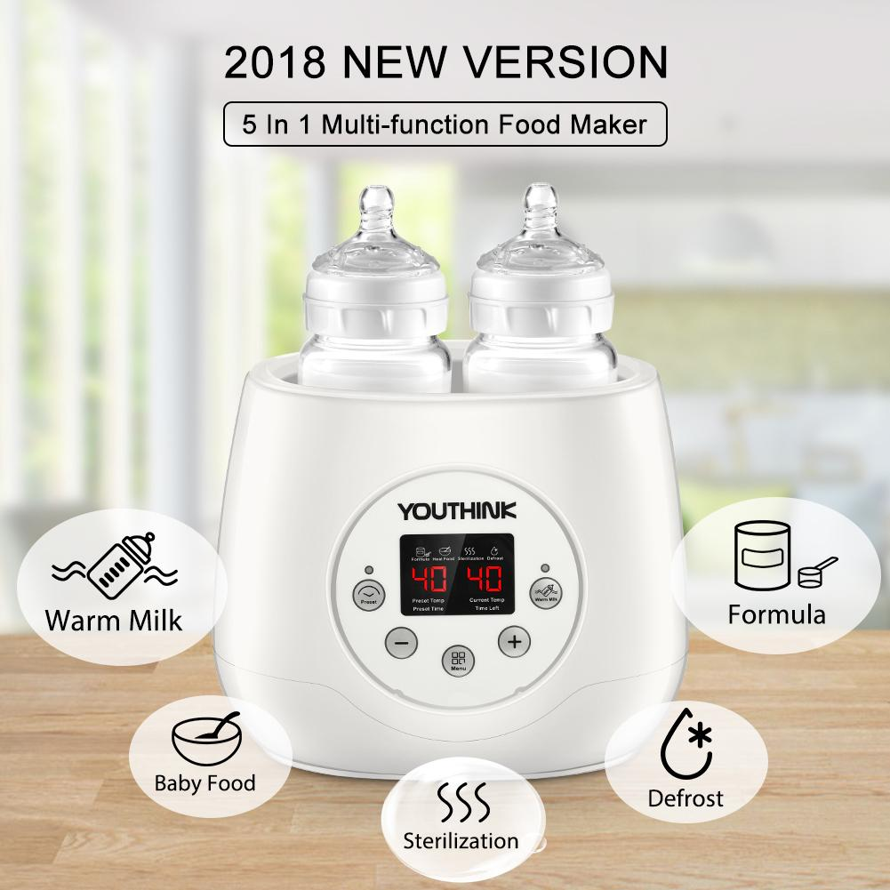 5-in-1 Baby Double Bottle Warmer & Steam Sterilizer for Breast Milk Formula Baby Food Intelligent Thermostatic... by Zerone