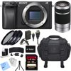 Sony ILCE-6300 a6300 4K Mirrorless Camera Body w/ 55-210mm Zoom Lens Bundle includes Camera, 55-210mm Lens, 49mm Filter Kit, 32GB SDHC Memory Card, Battery, Charger, Bag, Beach Camera Cloth and More