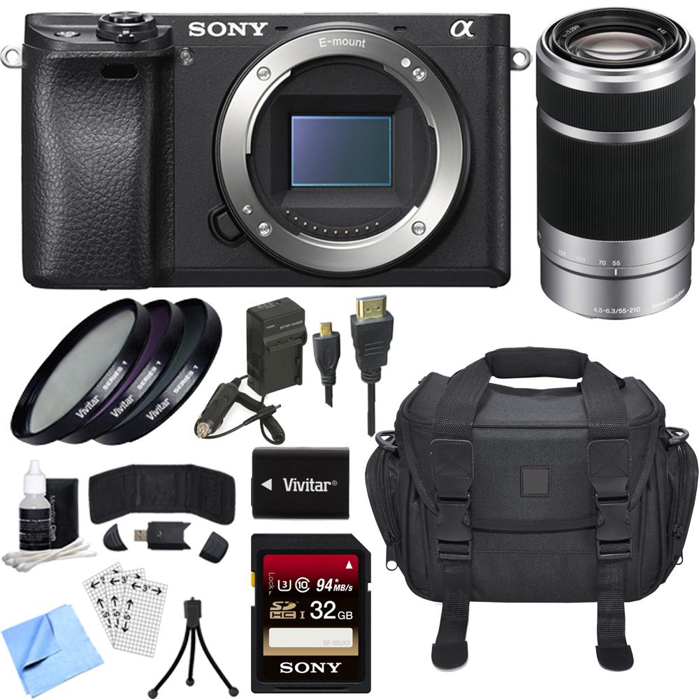 Sony ILCE-6300 a6300 4K Mirrorless Camera Body w/ 55-210mm Zoom Lens