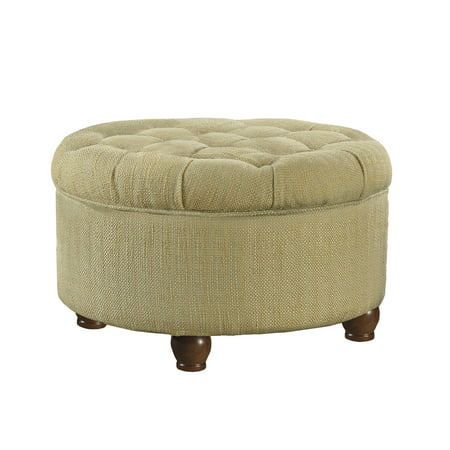Wondrous Homepop Large Tufted Round Storage Ottoman Multiple Colors Machost Co Dining Chair Design Ideas Machostcouk
