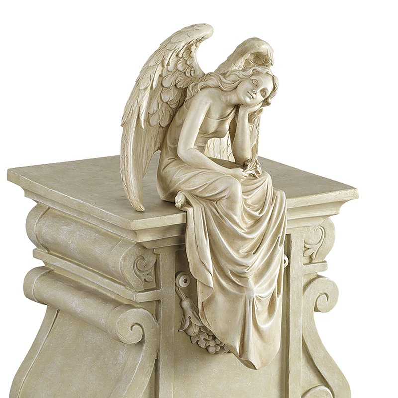 Design Toscano Resting Grace Sitting Angel Statue Medium by Design Toscano
