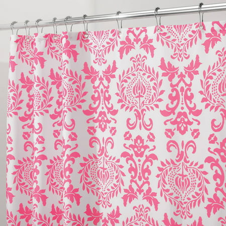 interdesign damask fabric shower curtain various sizes colors. Black Bedroom Furniture Sets. Home Design Ideas