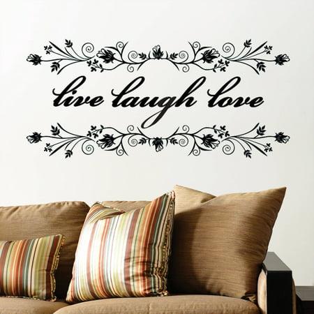 DCWV Vinyl Live Laugh Love Wall Decal Walmartcom - Vinyl wall decals at walmart