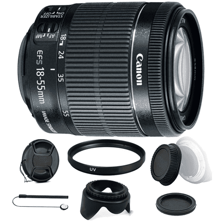 Canon EF-S 18-55mm f/3.5-5.6 IS STM Zoom Lens with Accessory Bundle for Canon Digital SLR Cameras Digital Zoom Lens Camera Lens