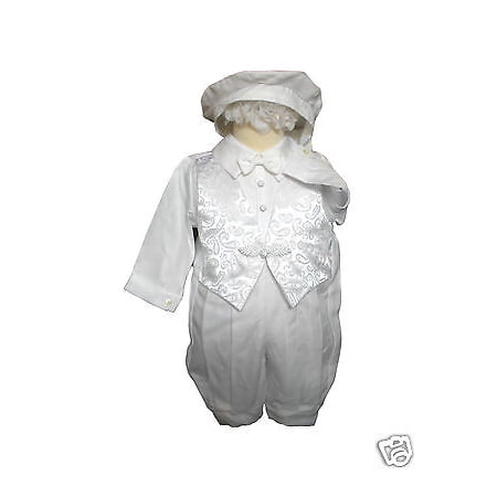 Baby Boy & Toddler Baptism Christening Romper Gown Suit Outfits white size:0-30M