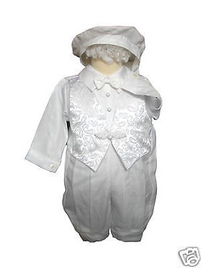 996fc20f9c1c Product Image Baby Boy & Toddler Baptism Christening Romper Gown Suit  Outfits white size:0-30M