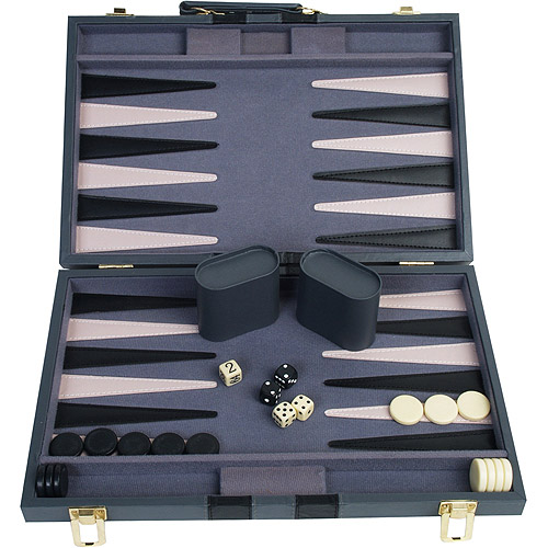 "Classic Games Collection 15"" Attache Backgammon Set"