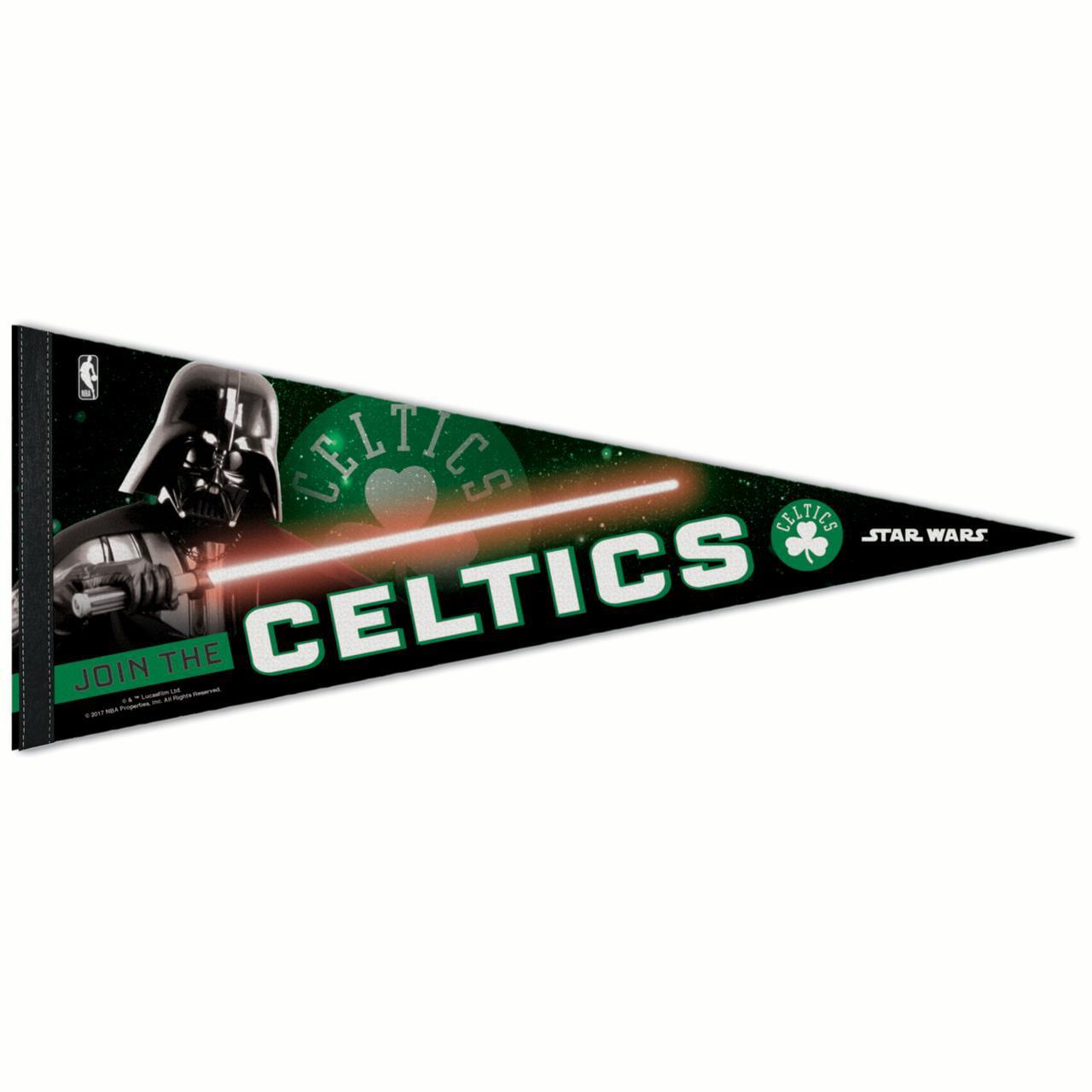 "Boston Celtics WinCraft Star Wars Darth Vader 12"" x 30"" Premium Pennant - No Size"