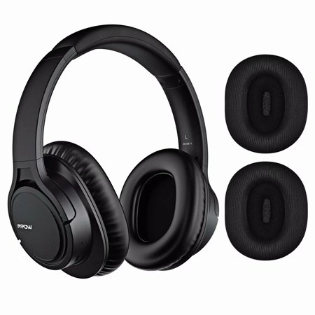 Mpow H7 Plus Bluetooth Headphone,Stereo Wireless Headphone with  Microphone,Replaceable Earmuffs,Wired and Wireless Playback,HiFi Sound  Quality for
