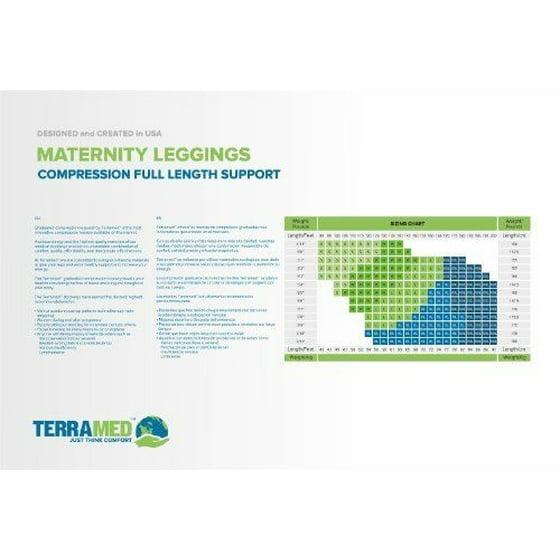 b35198d2eb017 Terramed - Terramed Maternity Footless Graduated Compression Microfiber  Leggings Tigh.. - Walmart.com