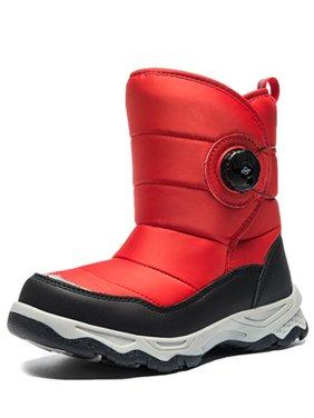Magic Shoelace Snow Boots for Boys Girls Outdoor Waterproof Slip Resistant Winter Warm Shoes(Little Kid/Big Kid)