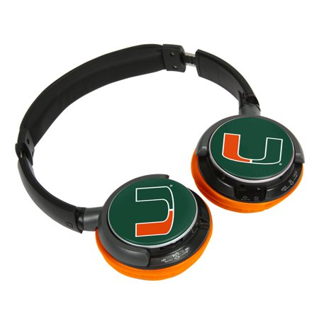 5280fc45db7 U Miami Hurricanes Sonic Jam Bluetooth Headphones - Walmart.com